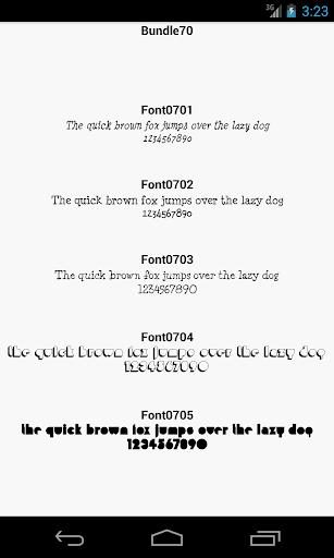 Fonts for FlipFont 70