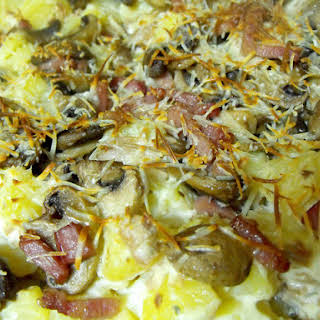 Cream Cheese and Potato Gratin.