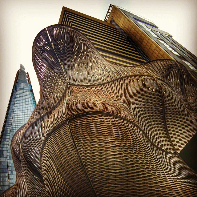 by Jonny Wood - Instagram & Mobile Android ( theshard, guyshospital, lookingup, sculpture, brutal_architecture )