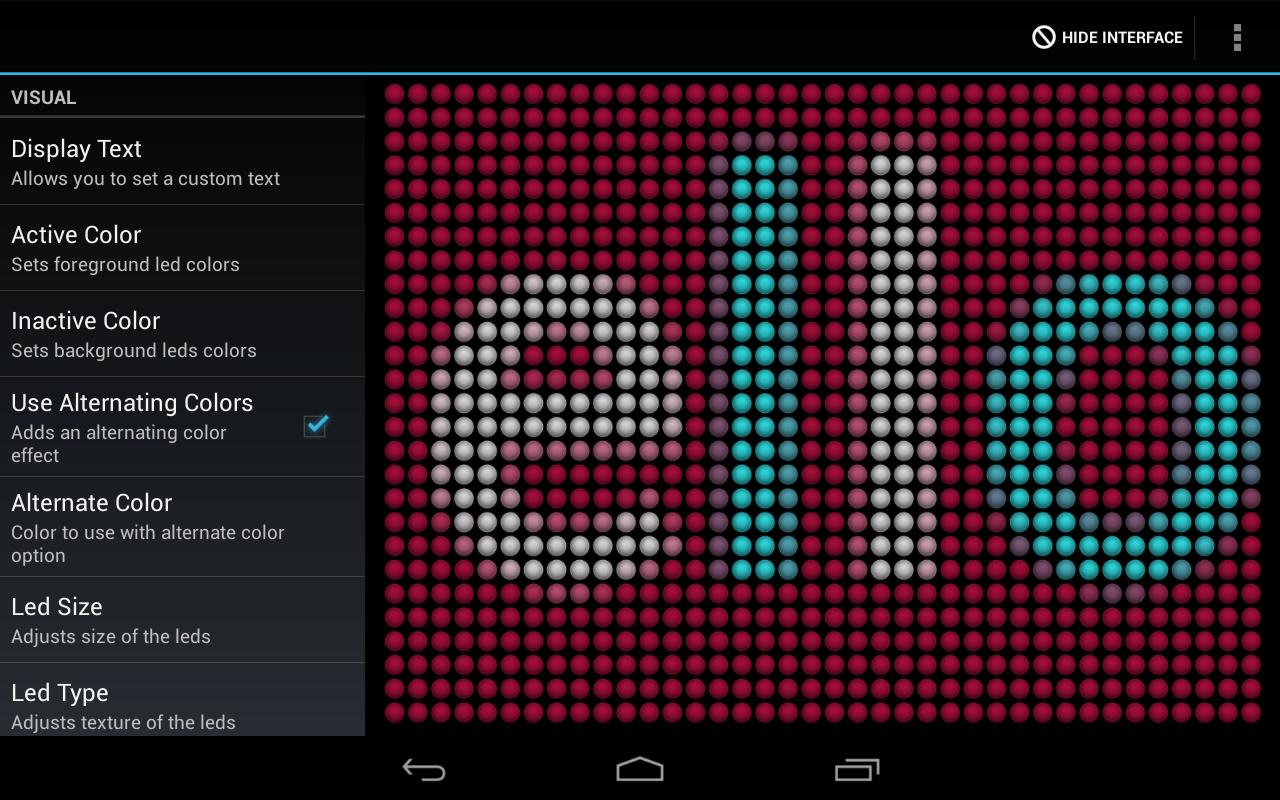 LED Flash Light Text Message - screenshot