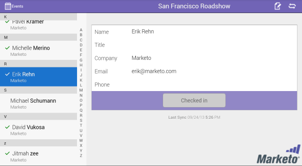 Marketo Events- screenshot