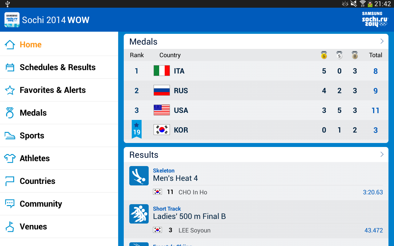 Sochi 2014 WOW - screenshot