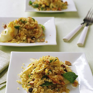 Quinoa-and-Apple Salad with Curry Dressing.