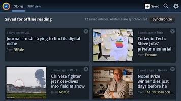 Screenshot of News360 for TVs