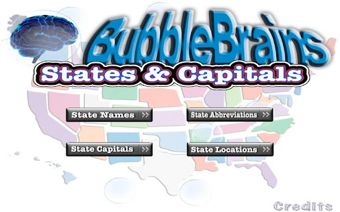 States & Capitals Bubble Brain- screenshot thumbnail