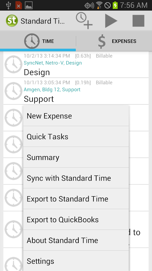 Standard Time Android Edition- screenshot
