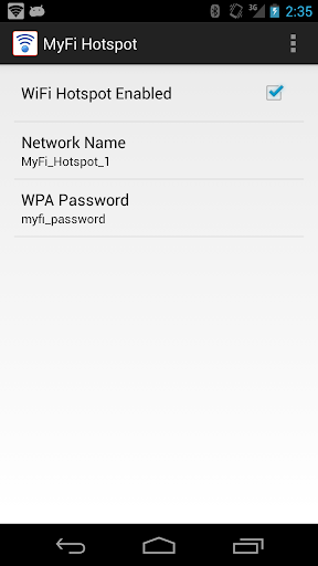 MyFi WiFi Hotspot - NO ROOT