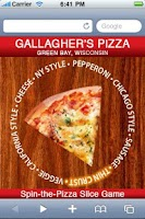 Screenshot of Gallagher's Pizza Green Bay