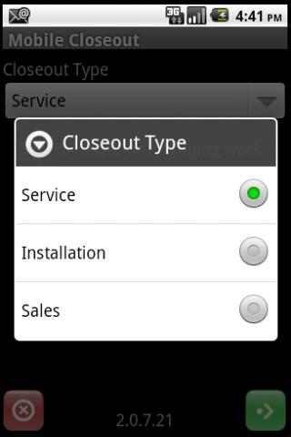 Mobile Closeout - screenshot