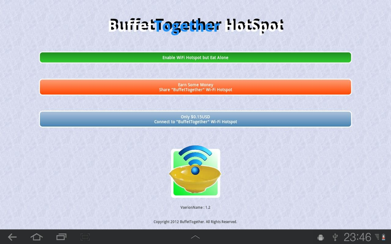 3G BuffetTogether WiFi HotSpot- screenshot