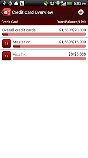 Credit Card Manager - náhled