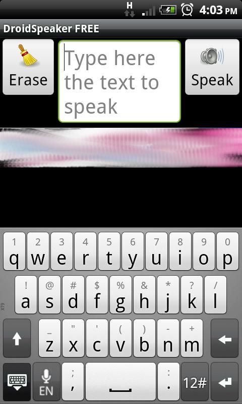DroidSpeaker- screenshot