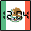 Flag LCD Clock Widget Mexico icon