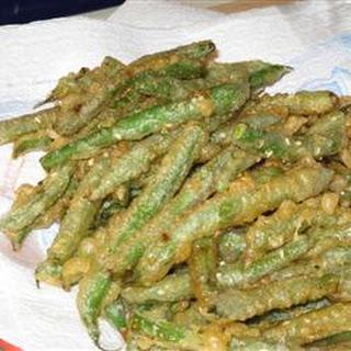 Sesame Tempura Green Beans.