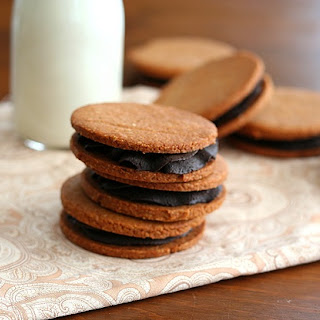 Peanut Butter & Chocolate Sandwich Cookies – Low Carb and Gluten-Free.
