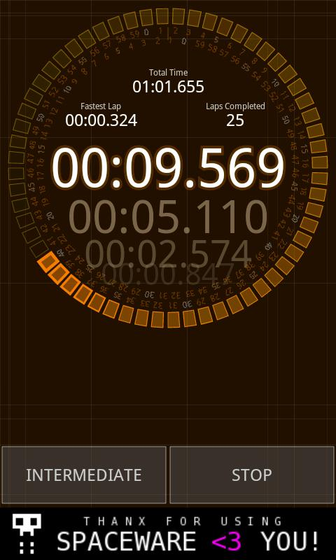 Micro Stopwatch- screenshot