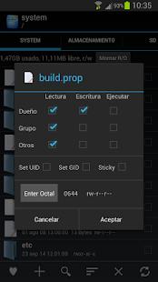 Root Explorer: miniatura de captura de pantalla