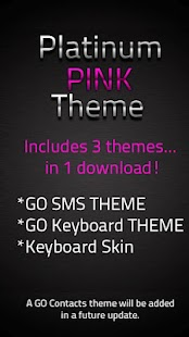 GO SMS Pink Platinum Theme - screenshot thumbnail