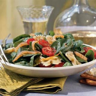Summer Farfalle Salad with Smoked Salmon.