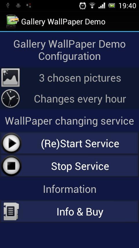 Gallery WallPaper Demo- screenshot