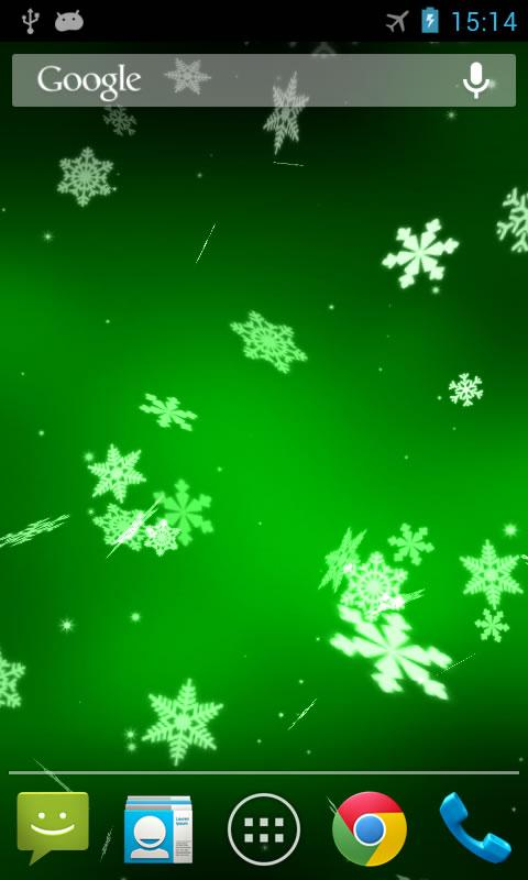 Snowflake 3D Live Wallpaper - screenshot