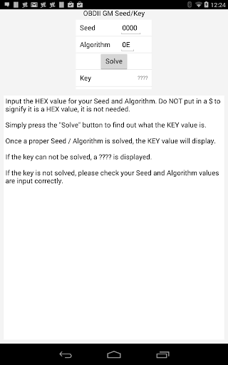 obd2 GM Seed Key Tool