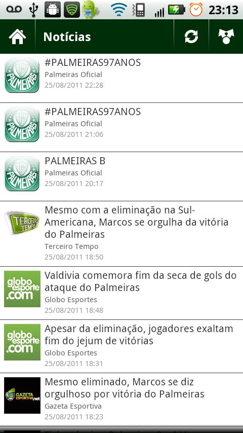 Palm News - screenshot