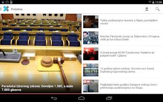 Screenshot of Klix.ba