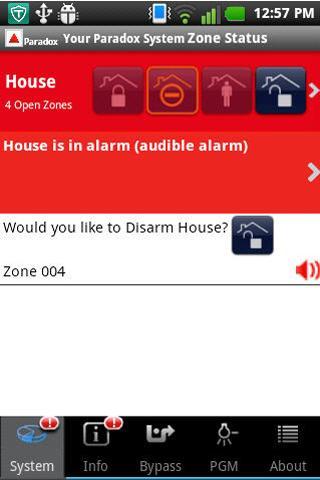 iParadox – Alarm Control- screenshot