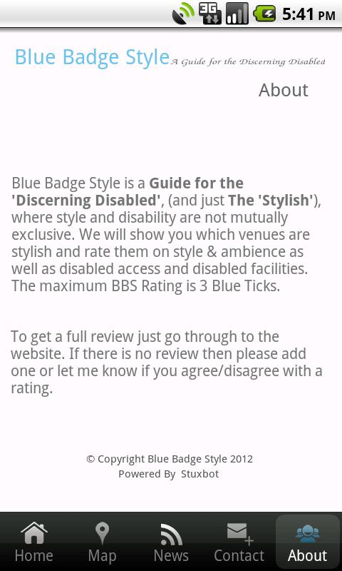 Blue Badge Style - screenshot