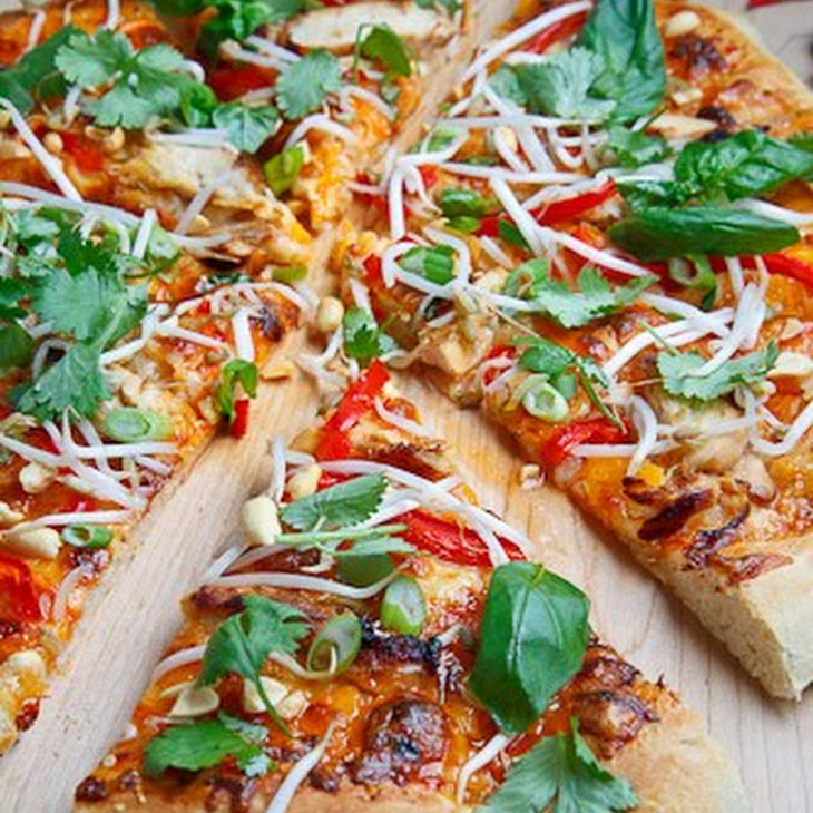 Thai Chicken Pizza with Sweet Chili Sauce Recipe