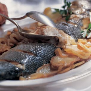 Baked Whole Fish with Sliced Potatoes (Pesce Al Forno Con Le Patate) Recipe