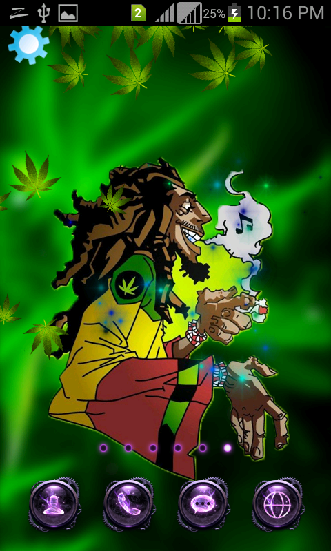 Weed Marijuana Live Wallpaper Screenshot