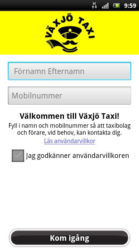 Växjö Taxi- screenshot