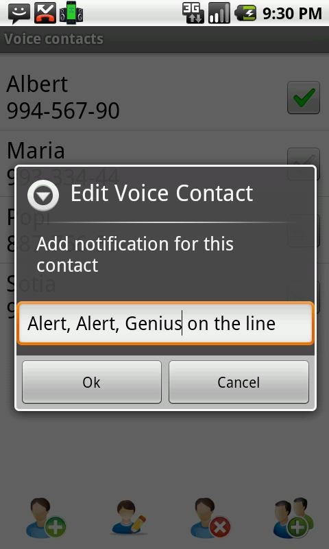 Voice Full Screen Caller ID Li - screenshot