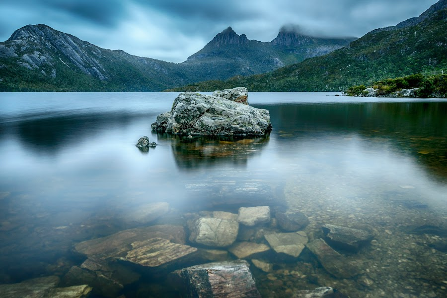 Rocky Path by Alan Wright - Landscapes Waterscapes