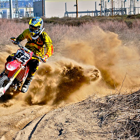Roost Explosion by Zachary Zygowicz - Sports & Fitness Motorsports ( roost, motocross, explosion, dirtbike, motorcycle )