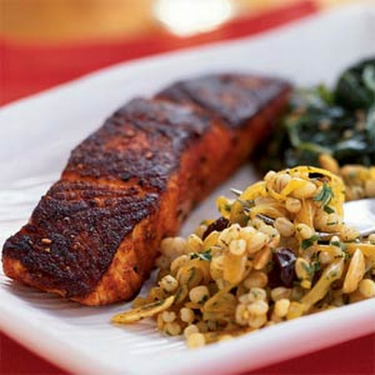 Curried Barley with Raisins and Almonds Recipe