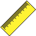 Ruler (cm, inch) icon