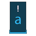 Squared Cyan HD Keyboard Theme logo
