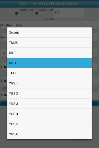 LYS YGS Tercih Robotu 2014