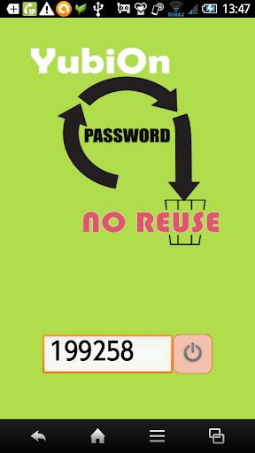 YubiOn Token ワンタイムパスワード