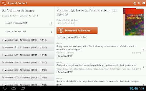 European Journal of Pediatrics - screenshot thumbnail