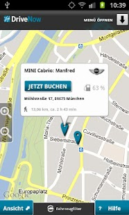 DriveNow Car Sharing - screenshot thumbnail
