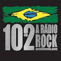 102 A Rádio Rock/Santos/Brasil logo
