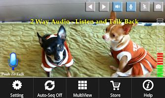 Screenshot of uHootooCam: 2-way Audio&Graph