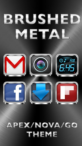 Brushed Metal - Icon Pack