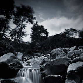 loji by Bonifasius Wahyu Fitrianto - Landscapes Waterscapes ( gnd, canon, black and white, nd, indonesia, karawang, long exposure, landscape, eos m, river )