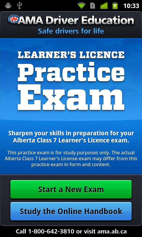 AMA Learner's Practice Exam - screenshot