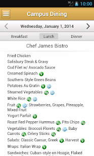 Menus - Vanderbilt- screenshot thumbnail